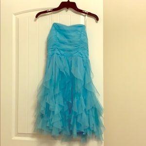 Strapless Blue dress